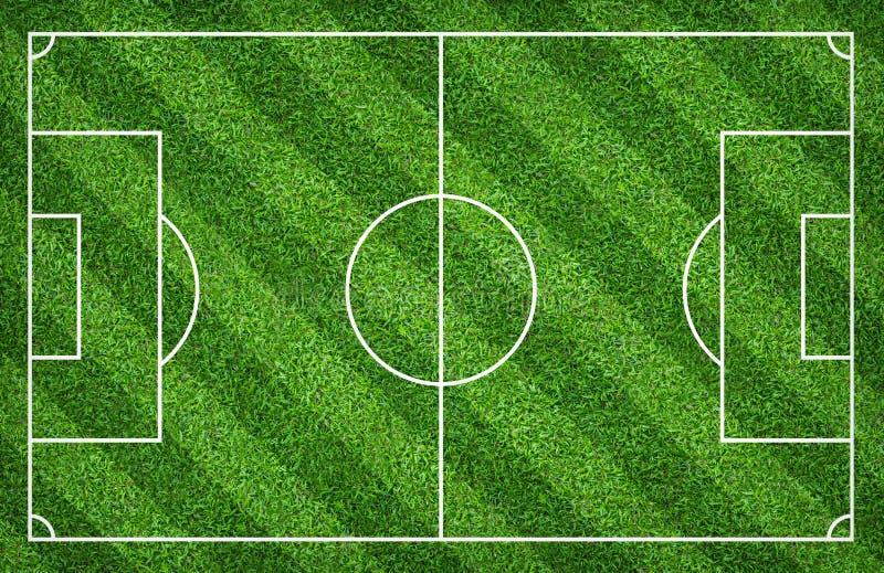 Terrain de football ou terrain de football pour le fond La cour verte de pelouse pour créent le jeu illustration libre de droits
