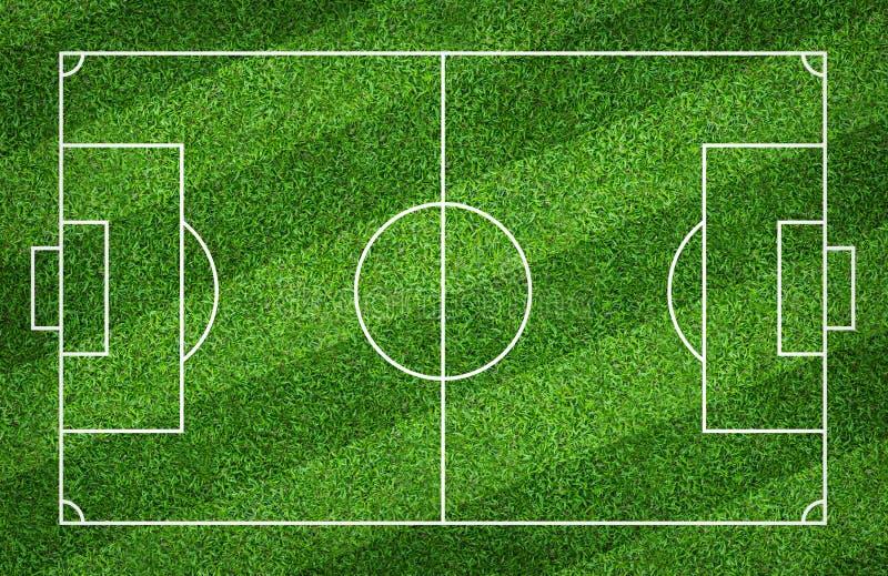 Terrain de football ou terrain de football pour le fond La cour verte de pelouse pour cr?ent le jeu illustration stock
