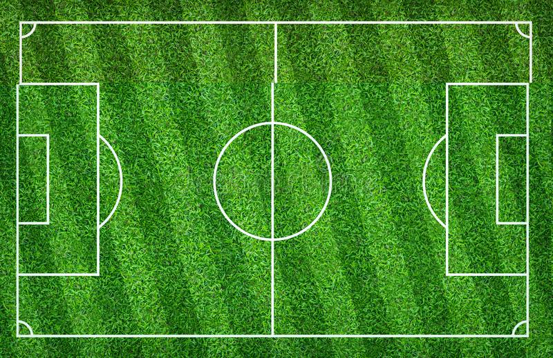 Terrain de football ou terrain de football pour le fond La cour verte de pelouse pour cr?ent le jeu illustration libre de droits