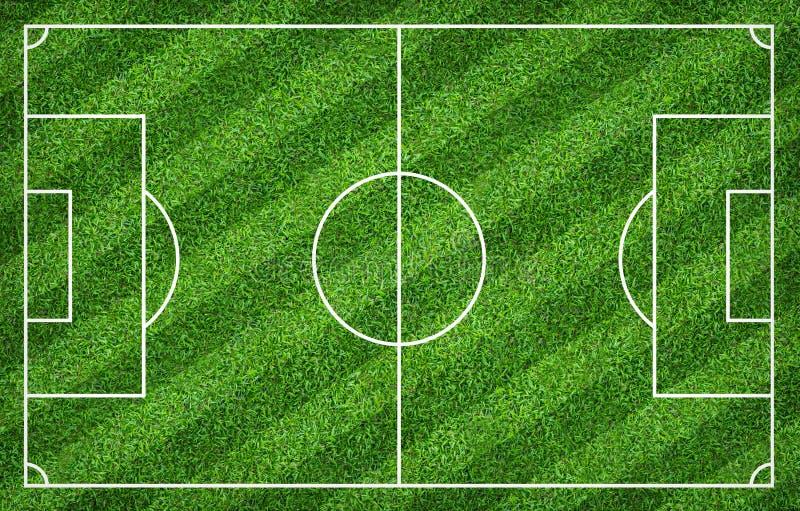Terrain de football ou terrain de football pour le fond La cour verte de pelouse pour cr?ent le jeu illustration de vecteur