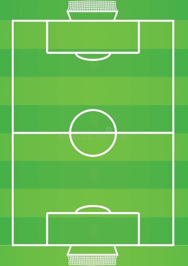 Terrain de football Vue supérieure illustration stock
