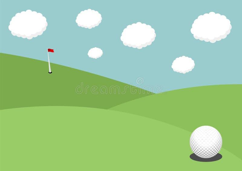 Terrain de golf illustration libre de droits