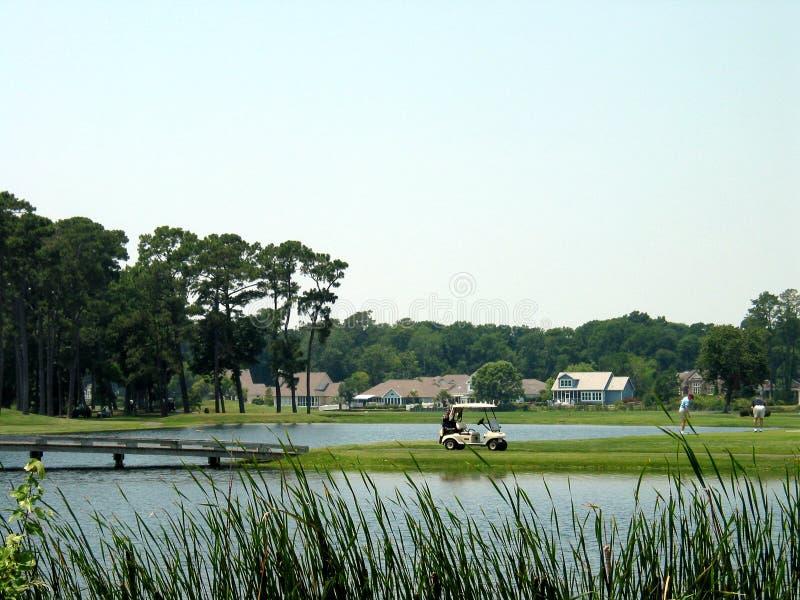 Terrain de golf côtier photo libre de droits