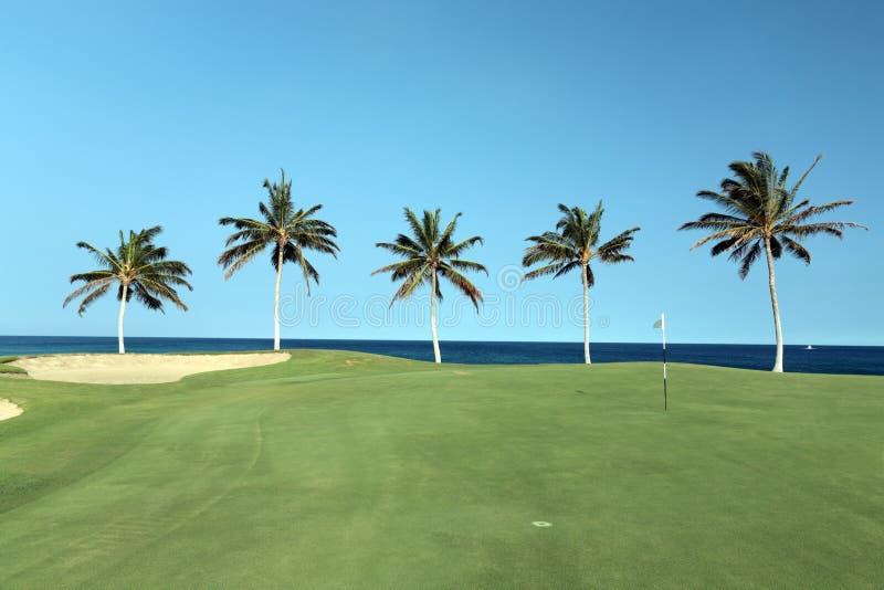 Terrain de golf d'Hawaï images libres de droits