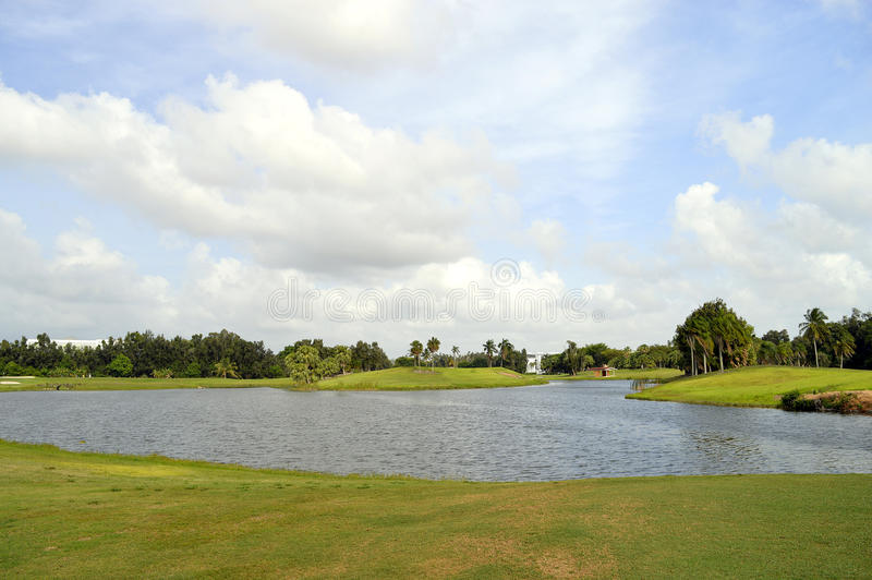 Terrain de golf de Bonaventure County Club image libre de droits