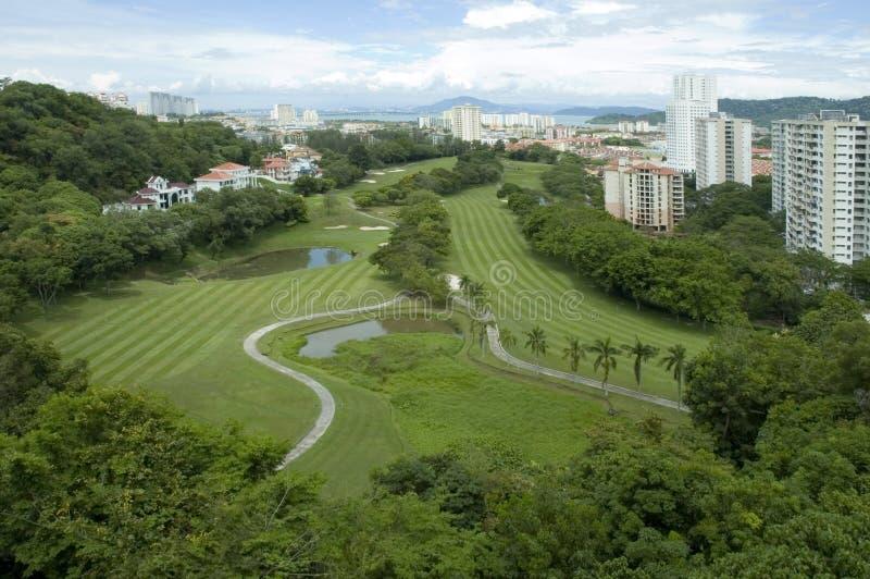 Terrain de golf de Bukit Jambul images stock