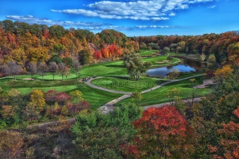 Terrain de golf de chute photos libres de droits