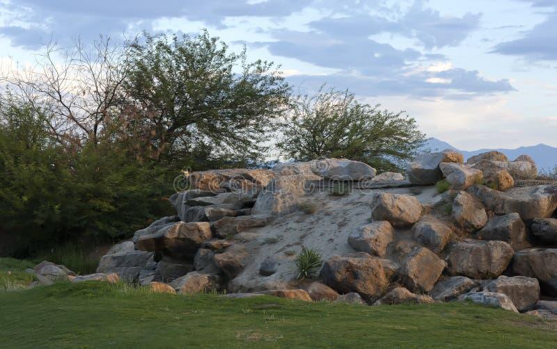 Terrain de golf de joueur de Gary images stock