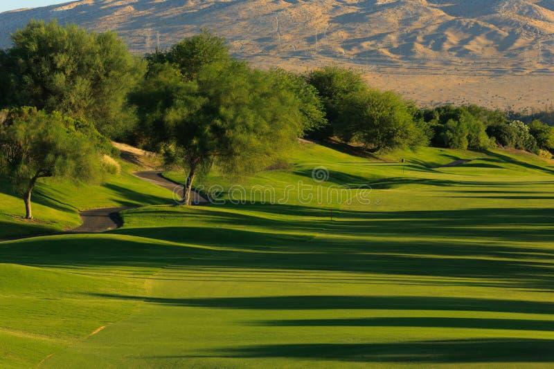 Terrain de golf de signature de joueur de Gary image libre de droits