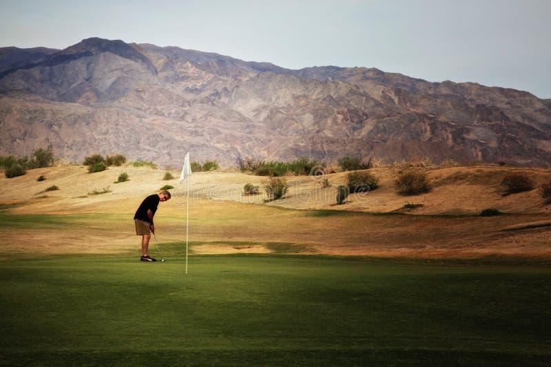 Terrain de golf Death Valley de crique de four images libres de droits