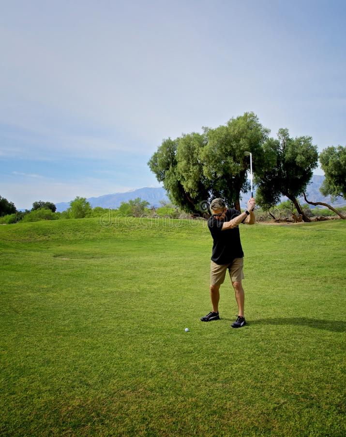 Terrain de golf Death Valley de crique de four photo stock