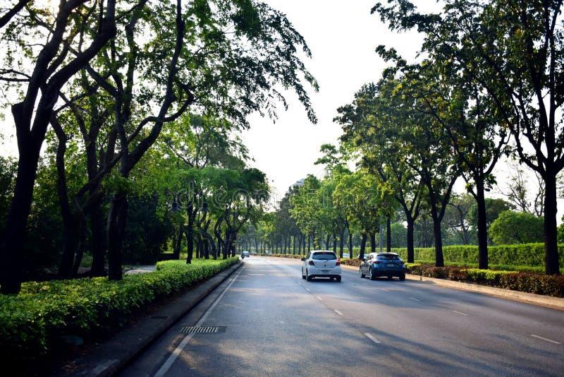 Terrain de golf du nord de parc dans Laksi, Bangkok, Thaïlande image stock
