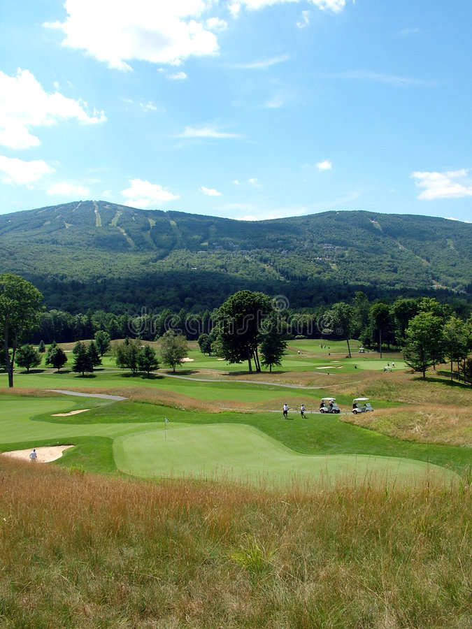 Terrain de golf du Vermontn photo stock