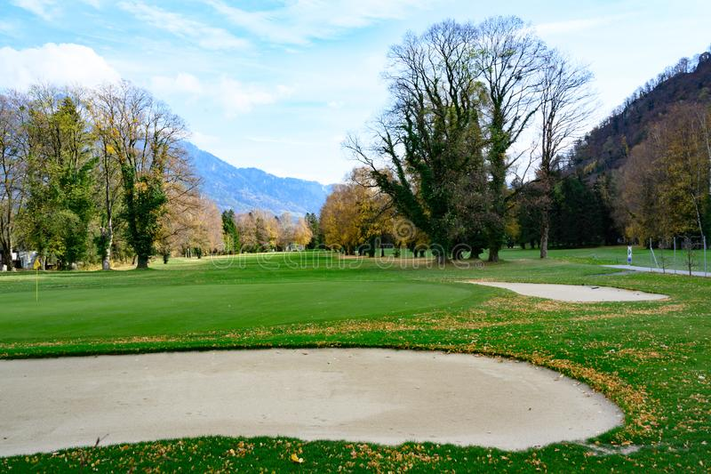 Terrain de golf mauvais Ragatz, Suisse photos stock