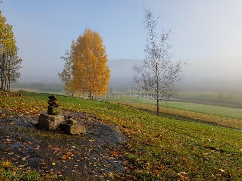 Terrain de golf norvégien photographie stock libre de droits