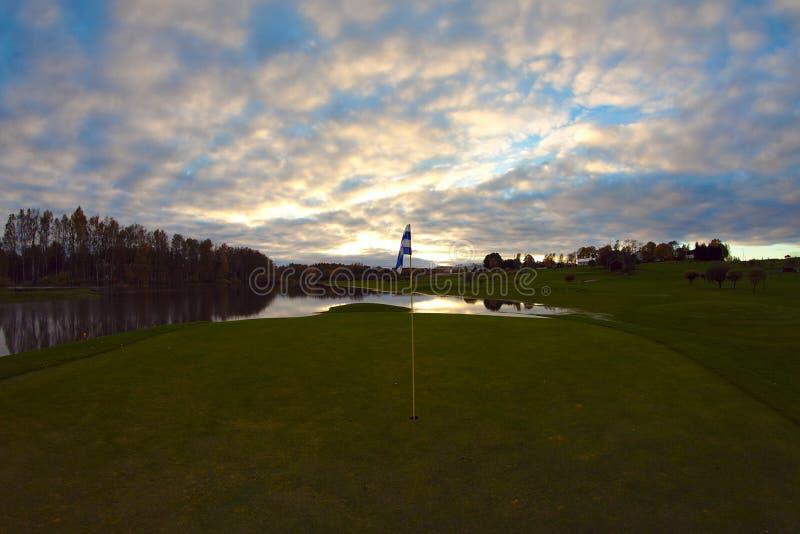 Terrain de golf noyé photographie stock libre de droits