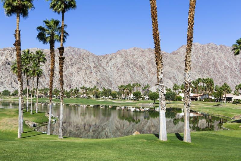 Terrain de golf occidental de Pga, Palm Springs, la Californie image libre de droits