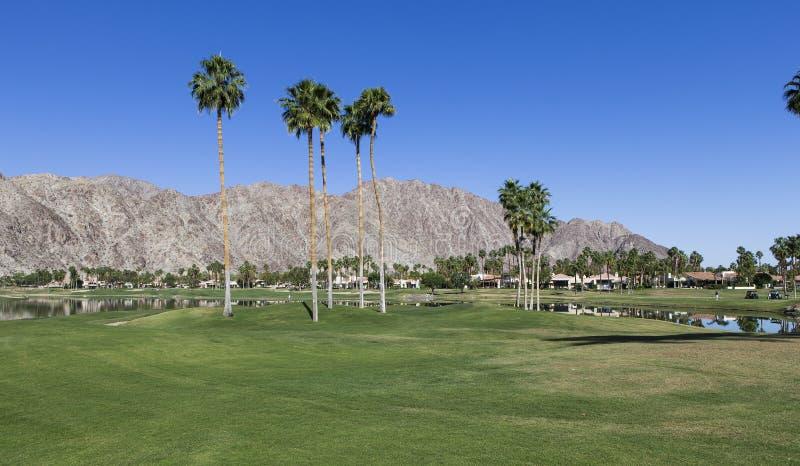 Terrain de golf occidental de Pga, Palm Springs, la Californie photographie stock libre de droits