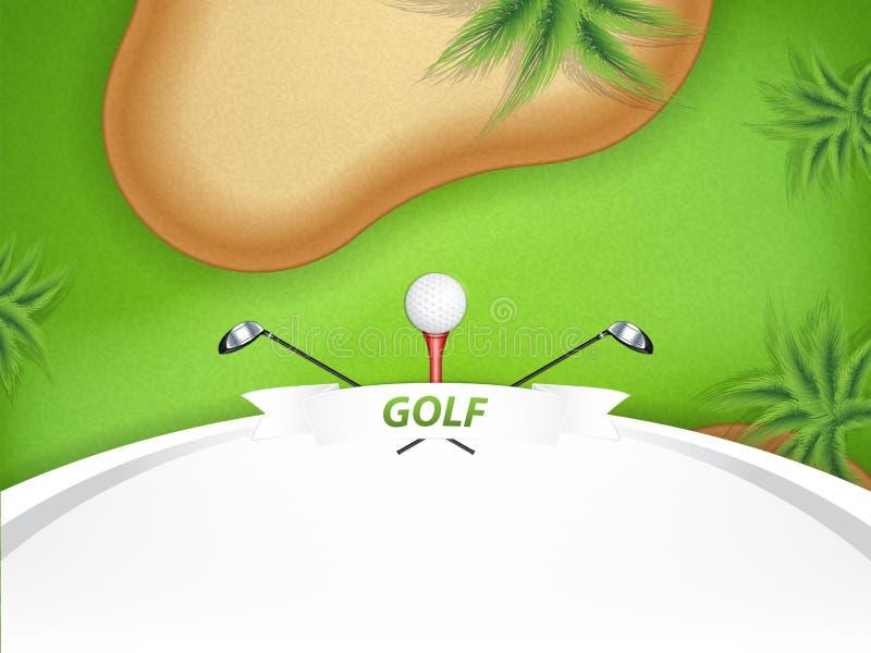 Terrain de golf illustration stock