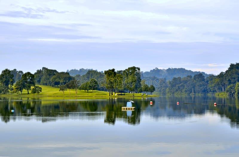 Terrain de golf Singapour images stock