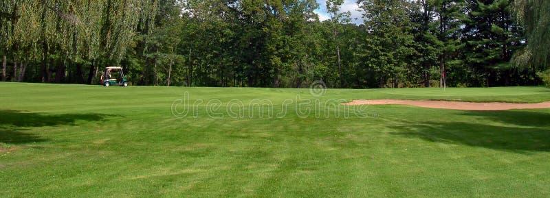 Terrain de golf tout à me image stock