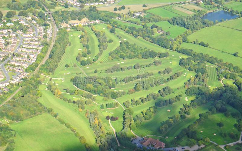 Terrain de golf de Worcestershire photos libres de droits