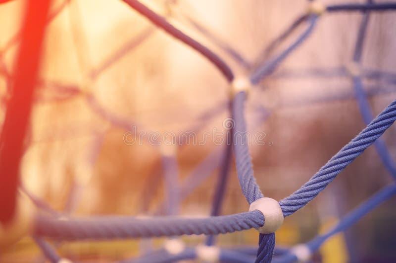 Terrain de jeu avec des cordes images libres de droits