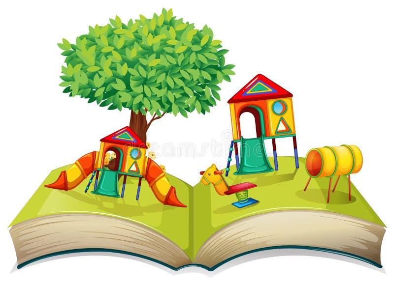 Terrain de jeu dans livre de contes illustration libre de droits