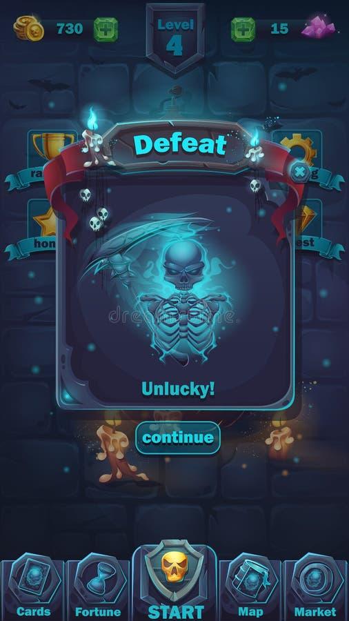 Terrain de jeu de défaite de GUI de bataille de monstre illustration libre de droits
