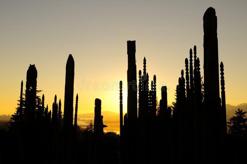 Terrain de jeu des dieux sur le parc de montagne de Burnaby image libre de droits