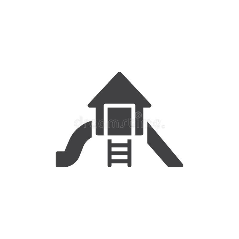 Terrain de jeu glissant l'icône de vecteur illustration de vecteur