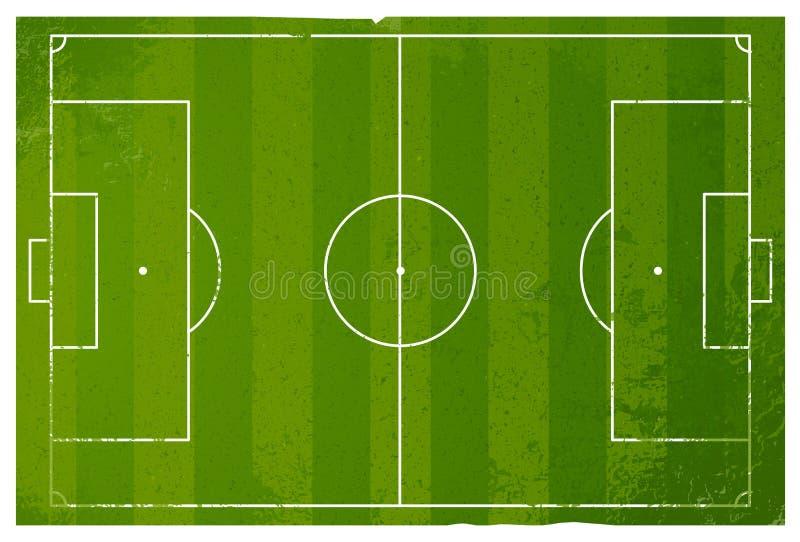 Terrain de jeu grunge du football illustration libre de droits