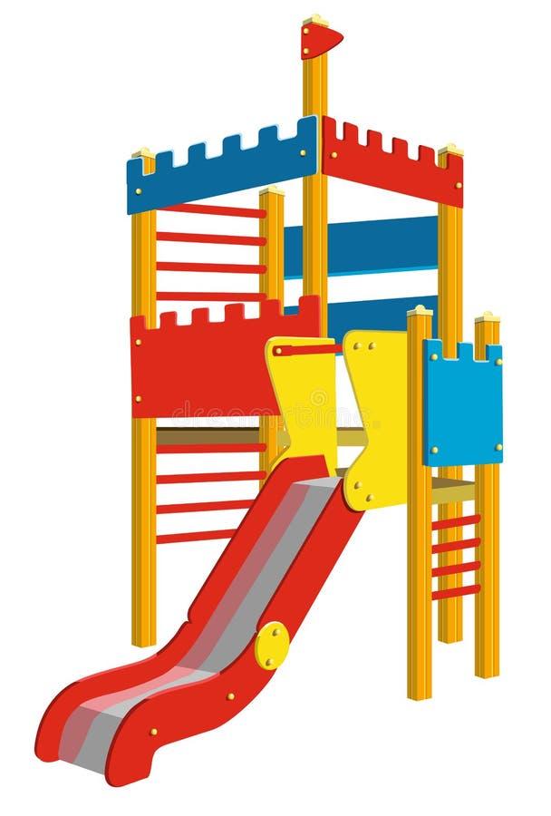 terrain de jeu pour des enfants illustration de vecteur illustration du centre r cr ation. Black Bedroom Furniture Sets. Home Design Ideas