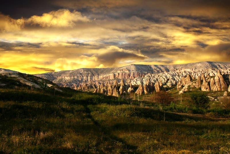 Terrain rocheux Cappadocia, Turquie photo libre de droits
