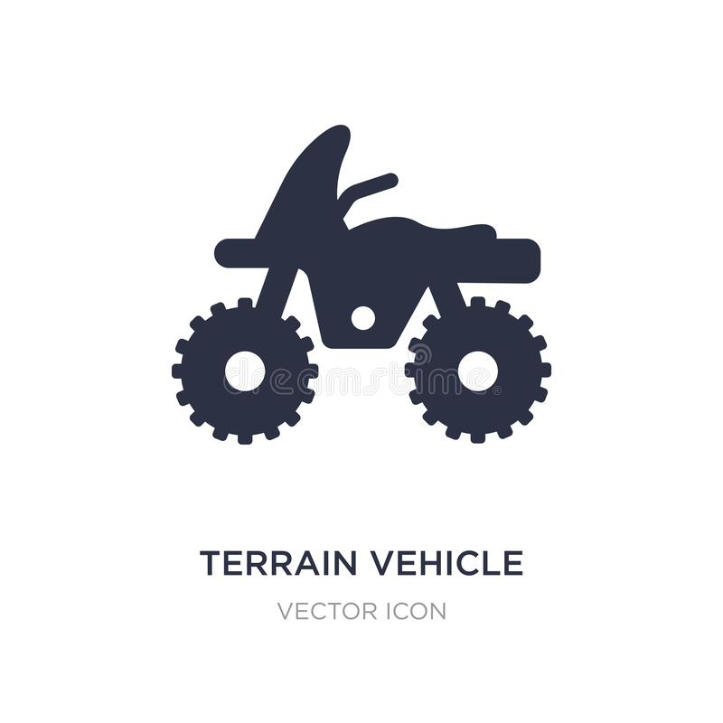terrain vehicle icon on white background. Simple element illustration from Transport concept stock illustration