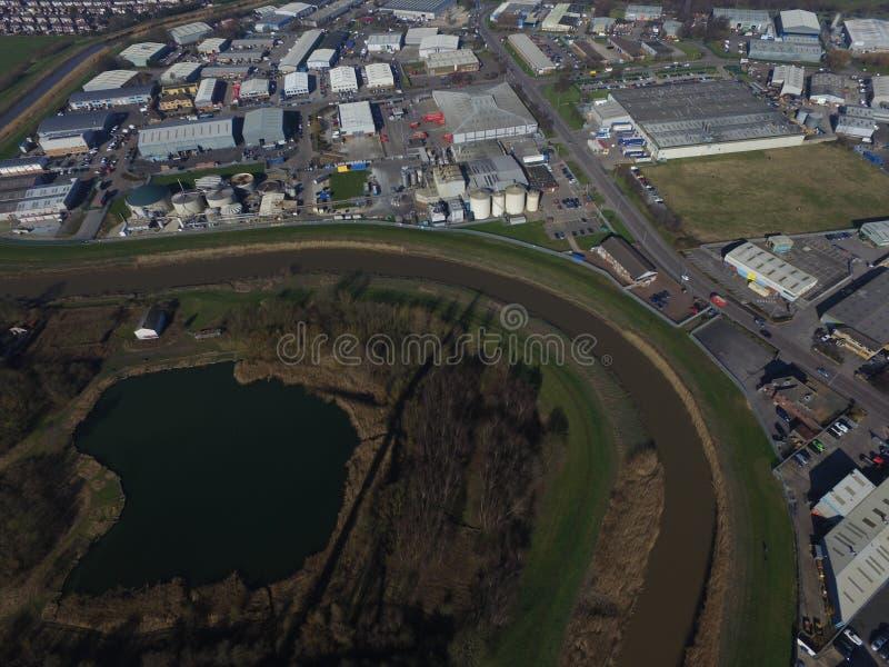 Terrains de jeu de route de chêne, Kingston sur la coque photos stock