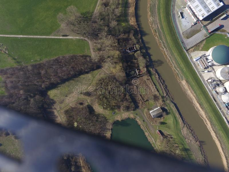 Terrains de jeu de route de chêne, Kingston sur la coque photos libres de droits