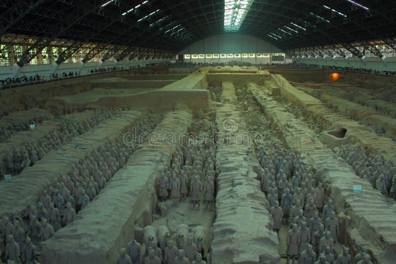 Terrakotta-Soldaten XI im ` ein Porzellan stockfotografie