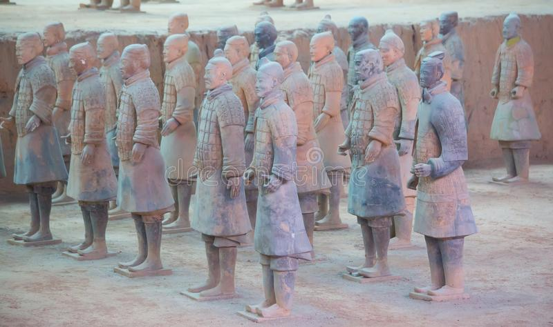 Terrakottaarmé arkivbilder