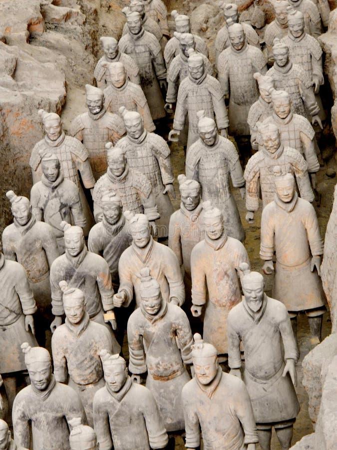 Terrakottaarmé i Xian, Kina arkivfoto