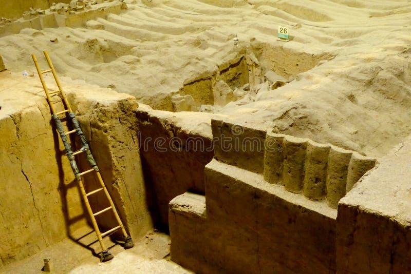 Terrakottaarmé Xian China arkivfoto