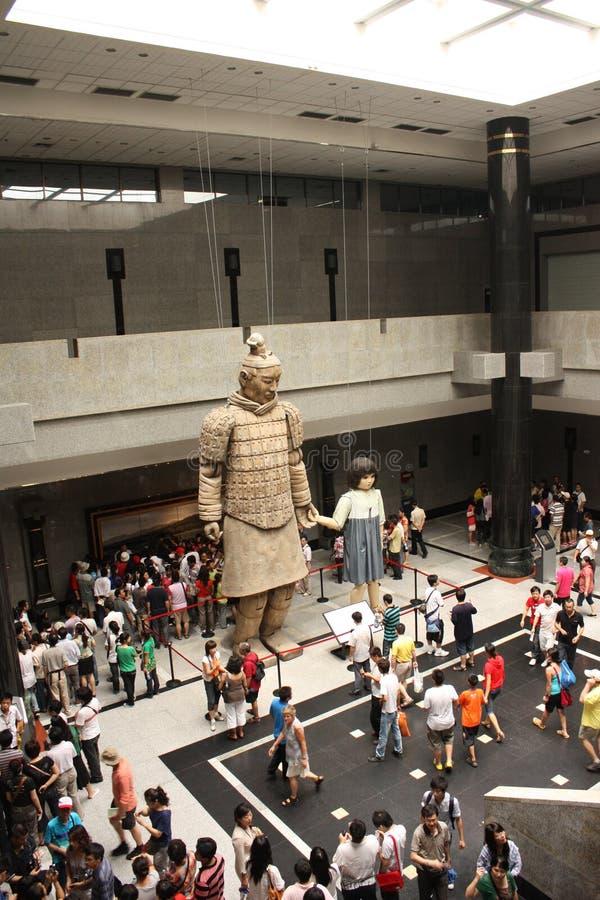 Terrakottakrieger Museum, Xian stockbilder