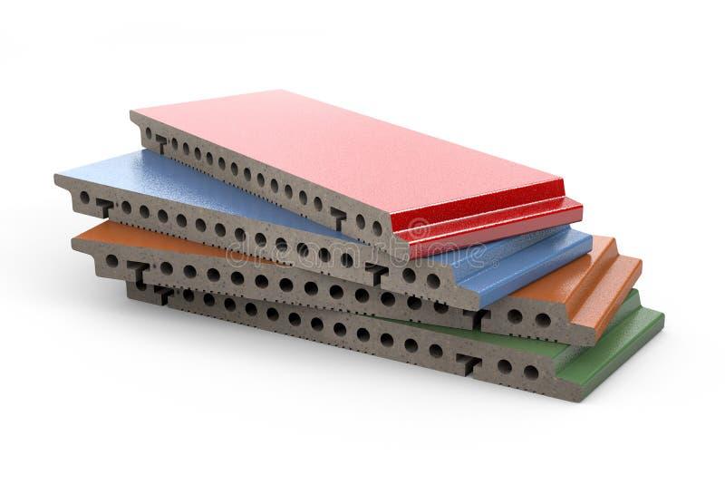 Terrakottapanel för ventilerad fasad stock illustrationer