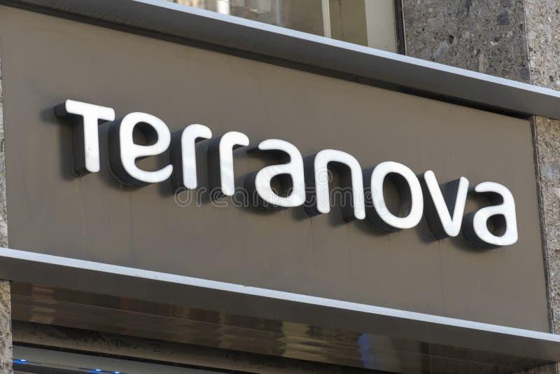 Terranova-Geschäftszeichen stockbilder