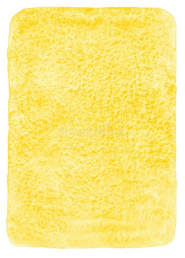 Terraplén amarillo de la acuarela con las esquinas redondeadas stock de ilustración