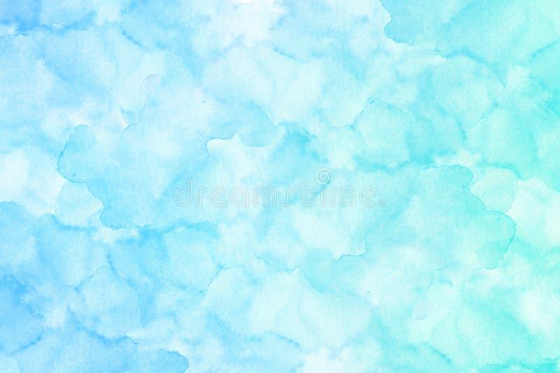 Terraplén azul claro de la acuarela del extracto con tensiones ilustración del vector