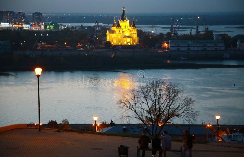Download Terraplén De Fedorovsky De La Noche En Nizhny Novgorod Foto de archivo editorial - Imagen de novgorod, visión: 44851948