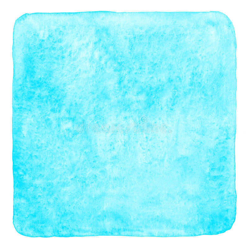 Terraplén de la acuarela del cuadrado del azul de cielo con las esquinas redondeadas libre illustration