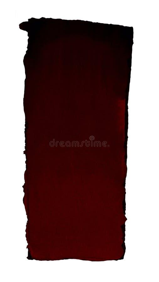 Terraplén de la pendiente de la acuarela del negro a rojo oscuro para el fondo Textura del papel de la acuarela Un rectángulo ver libre illustration