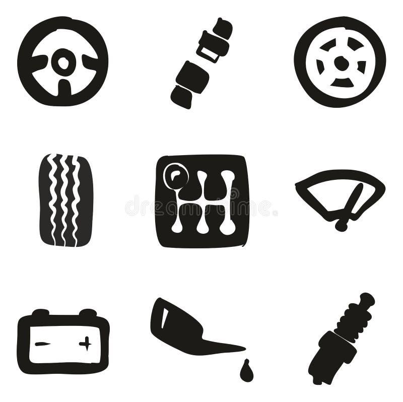 Terraplén de los iconos del coche a pulso libre illustration